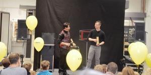 Messe Düsseldorf mit Zauberer Hamid Mostofi