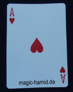 Magische Übereinstimmung-Herz Ass- mit Mentalist Hamid Mostofi r