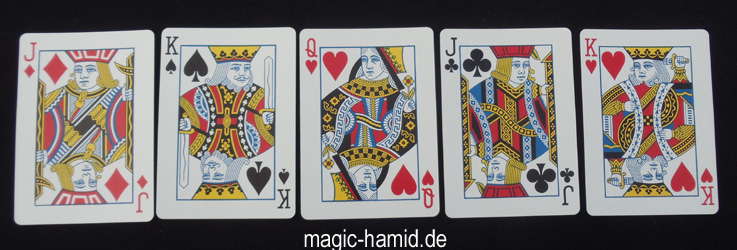 Karten Trick -Zauberer Hamid Mostofi