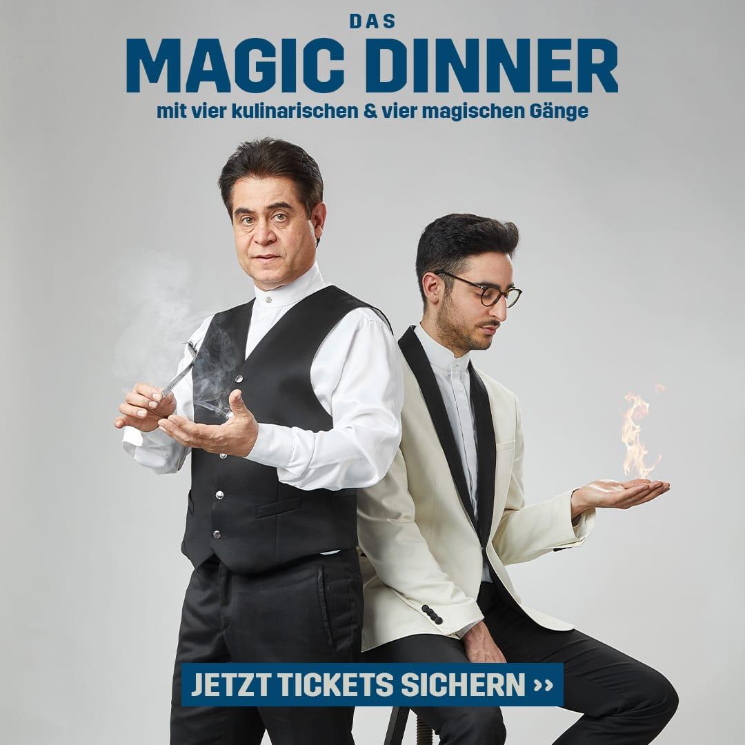 Dinner show mit Magier Hamid Omid Mostofi